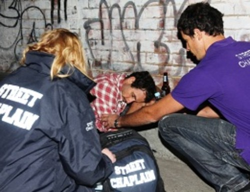 Street Chaplains, on the front lines at night